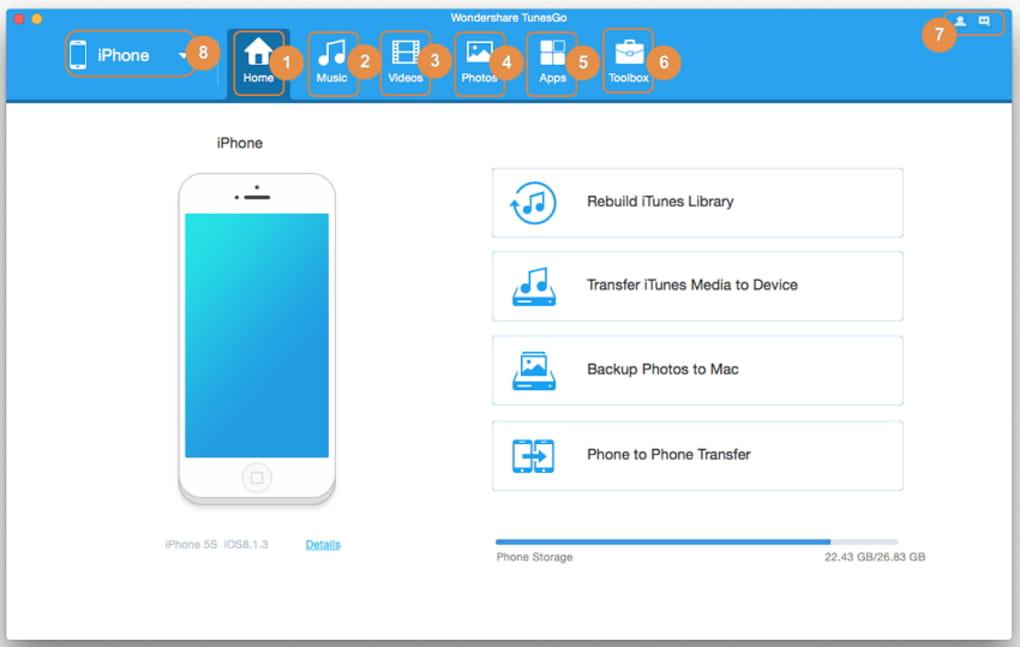 Wondershare TunesGo 9.8.3.47 With Crack Download Full Version