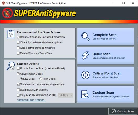 SUPERAntiSpyware Professional X Crack + Registration Code Free Download